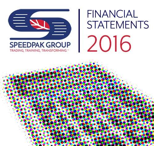 Speedpak Group's 2016 Financial Statements