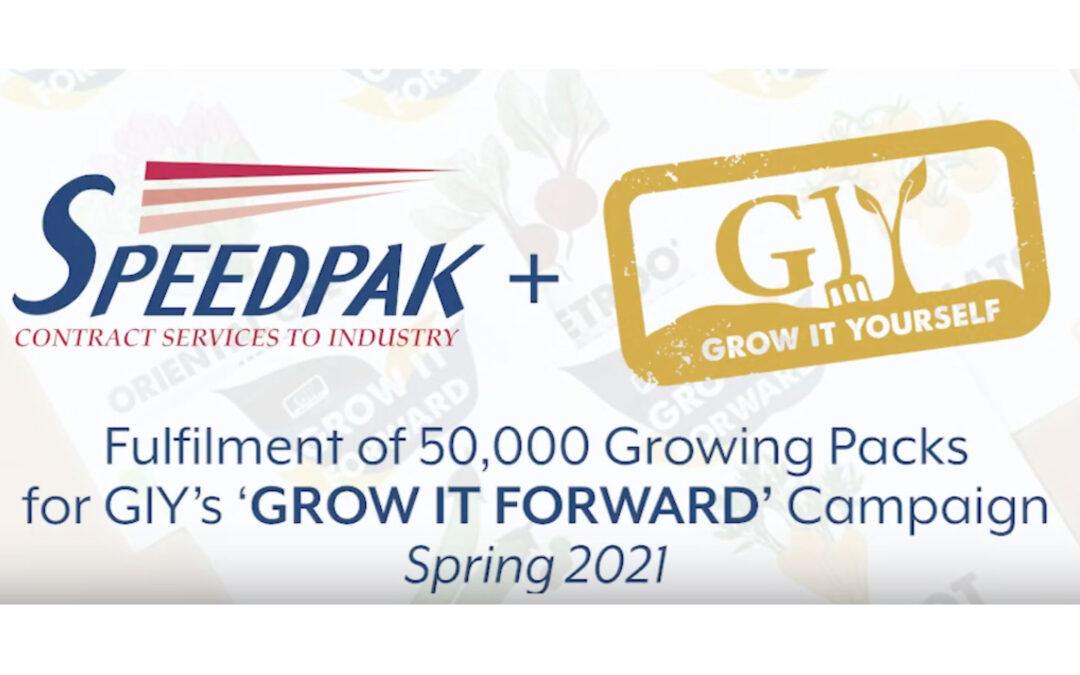 "Speedpak fulfilment for GIY's ""Grow It Forward"" campaign Spring 2021"
